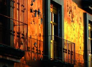Atardecer en el centro de Oaxaca