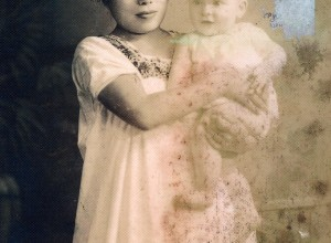 Mujer maya con niño. Mérida