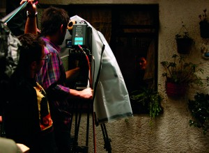 Filmación  de la película Las Buenas Hierbas de María Novaro con Ana Ofelia Murguía