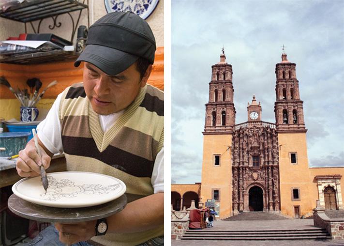 Artesano de Talavera, Puebla y Dolores Hidalgo, Guanajuato
