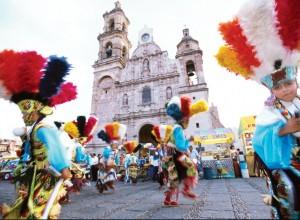 Baile de matachines, templo de San Marcos