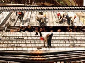 Construcción de la línea dorada del Metro