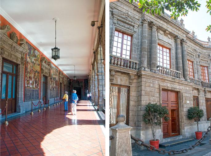 Palacio Nacional © Karina Flores / Museo Nacional de San Carlos © Bruno Pérez Chávez