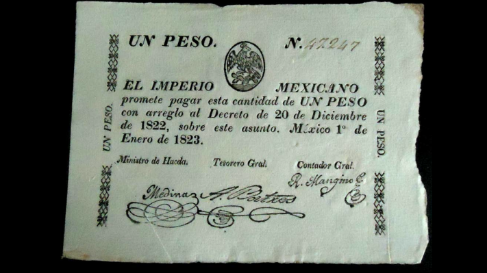 Primer billete mexicano