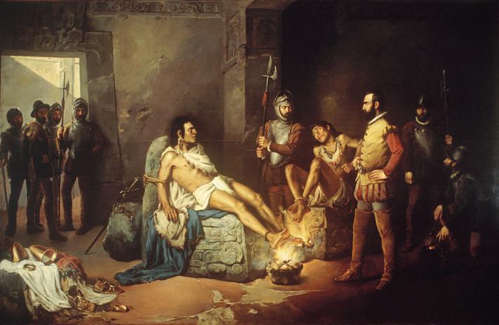 El suplicio de Cuauhtémoc de Leandro Izaguirre