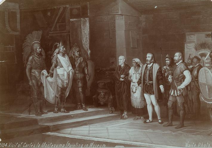 Visita de Cortés a Moctezuma
