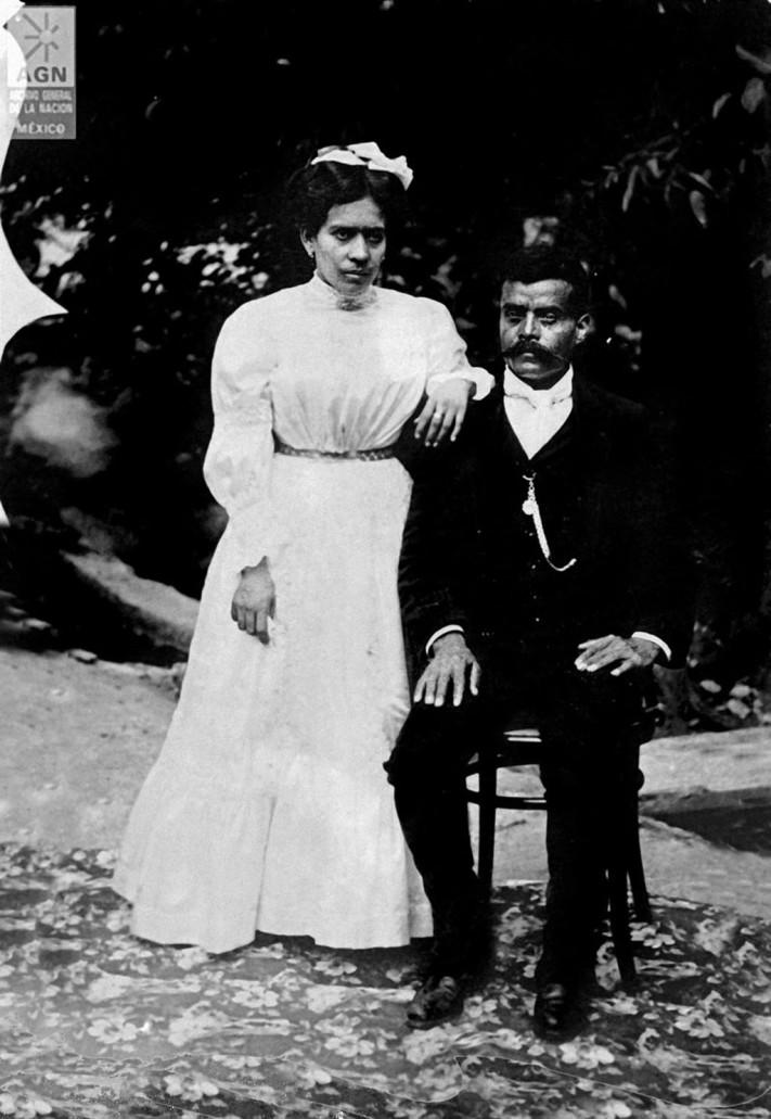 Zapata y su esposa Josefa © Archivo General de la Nación