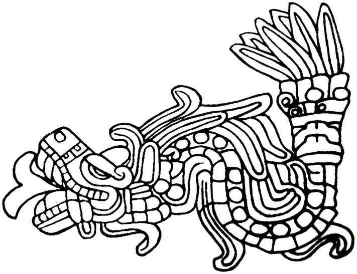 quetzalcoatl aztec drawing - photo #14