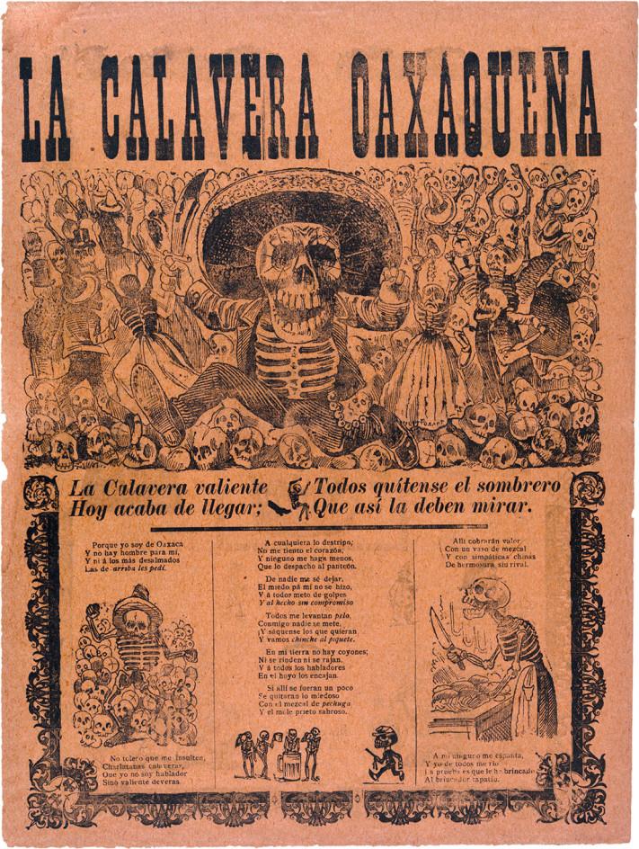 José Guadalupe Posada Calavera Oaxaqueña