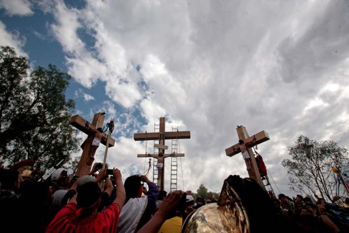 168 representación de la pasión de cristo en Iztapalapa.