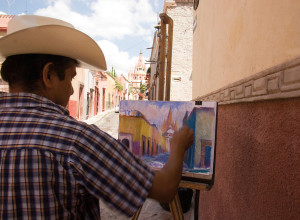 Pintor en San Miguel