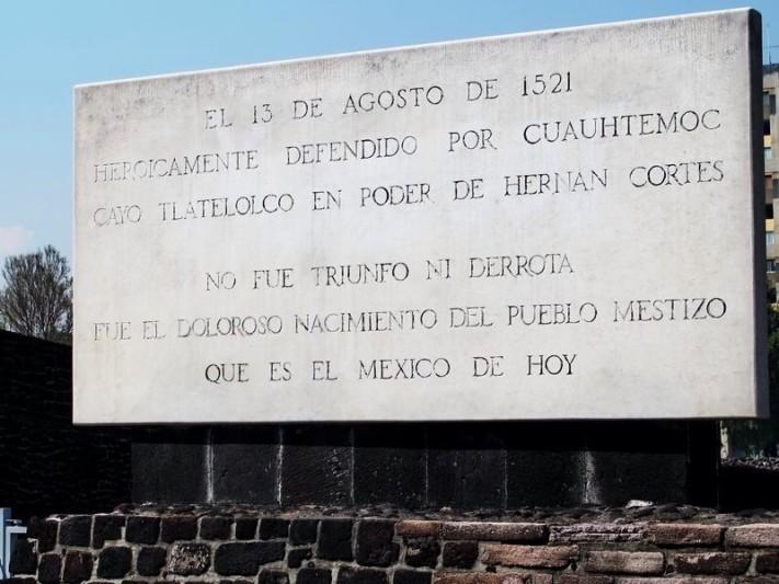 Placa en Tlatelolco