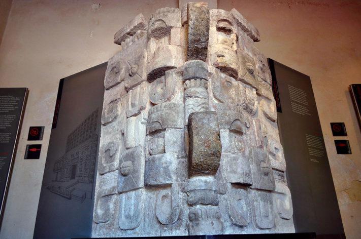 MÁSCARÓN ARQUITECTÓNICO. MUSEO DE ARUQITECTURA MAYA. FOTO CENTRO INAH CAMPECHE